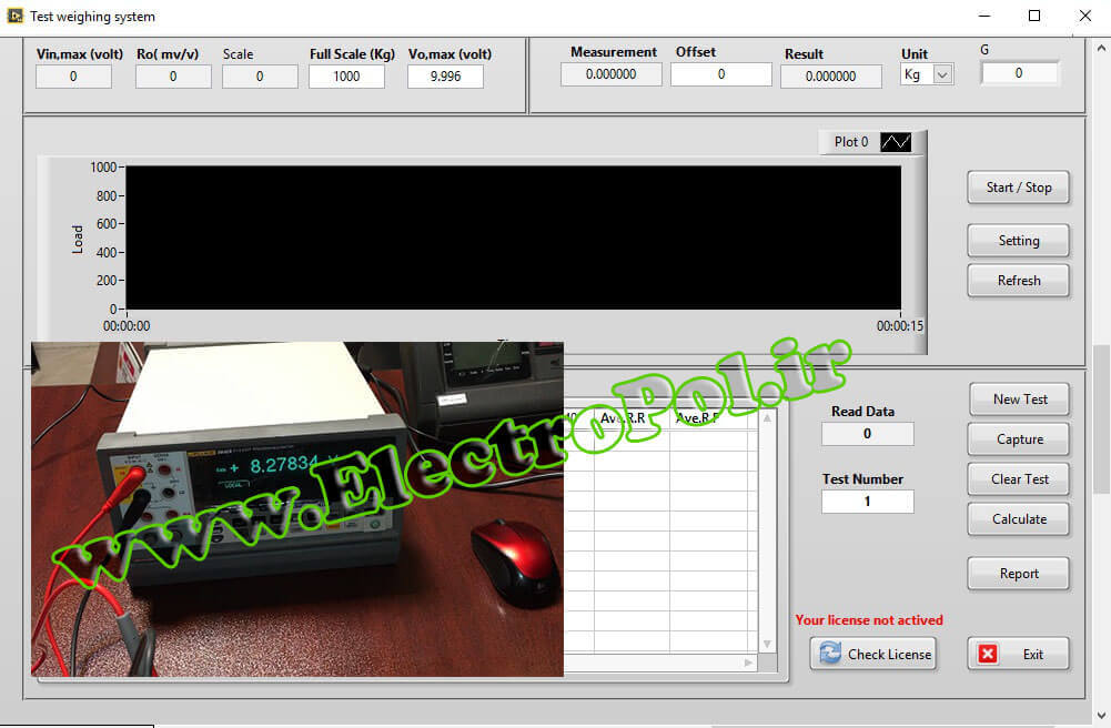 نرم افزار کالیبراتور دقیق لودسل با Fluke 8846a