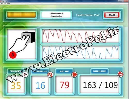 Heals Station | اندازهگیری فشار خون , اکسیژن خون , ضربان قلب